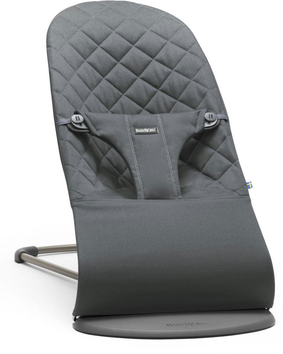 BabyBjorn Кресло-шезлонг Bouncer Bliss Cotton цвет антрацитовый кресла качалки шезлонги babybjorn кресло шезлонг bliss mesh