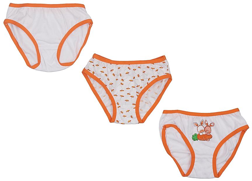 Трусы для девочки Lowry, цвет: белый, 3 шт. GP-269. Размер XS (92/98) трусы для девочки lowry цвет белый оранжевый 3 шт gp 270 размер xxs 86 92
