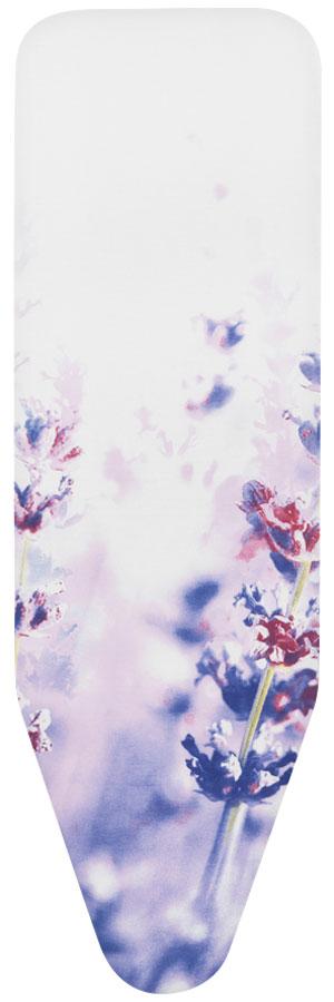 Чехол для гладильной доски Brabantia Perfect Fit. Лаванда, 8 мм, 124 х 45 см. 264825264825_ сиреневые цветыИдеальная поверхность для глажения и отпаривания.Плавное скольжение утюга – верхний чехол из 100% хлопка.Удобное глажение – упругая подкладка (4 мм поролона + 4 мм фетра).Удобная фиксация на доске и отличное натяжение чехла – затягивающий шнур и стяжки.Цветовая маркировка позволяет быстро и точно подобрать нужный чехол.