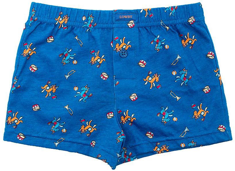 Трусы-боксеры для мальчика Lowry, цвет: синий. BSH-286. Размер XL (134/140) трусы lowry трусы 3 шт