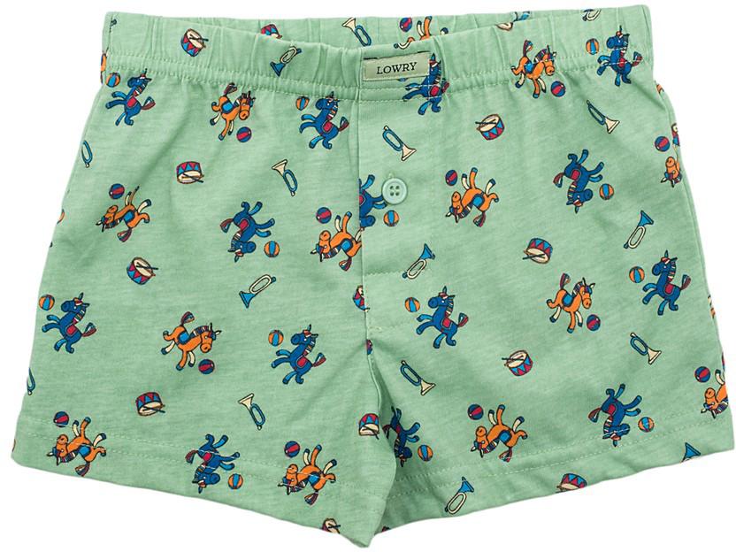 Трусы-боксеры для мальчика Lowry, цвет: зеленый. BSH-286. Размер XL (134/140) трусы lowry трусы
