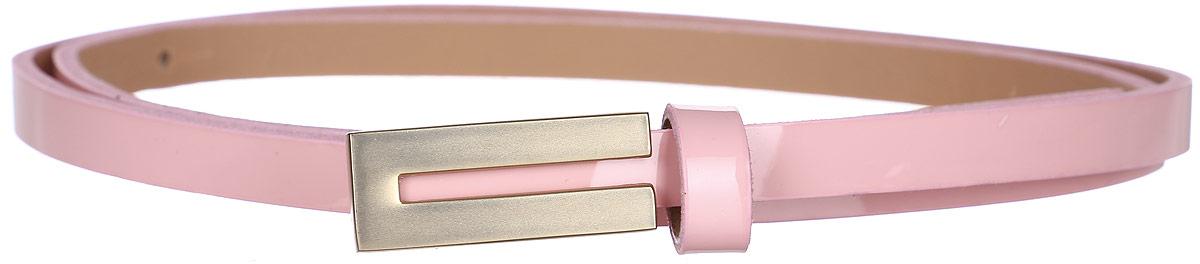 Ремень женский Finn Flare, цвет: розовый мрамор. S17-11305_812. Размер (95)S17-11305_812Такой симпатичный лаковый ремешок украсит любое ваше летнее платье или лёгкую рубашку! Прямоугольная пряжка с золотой частью и модный розовый цвет освежат даже самый скучный наряд. Выполнен ремешок из прочной искусственной кожи.
