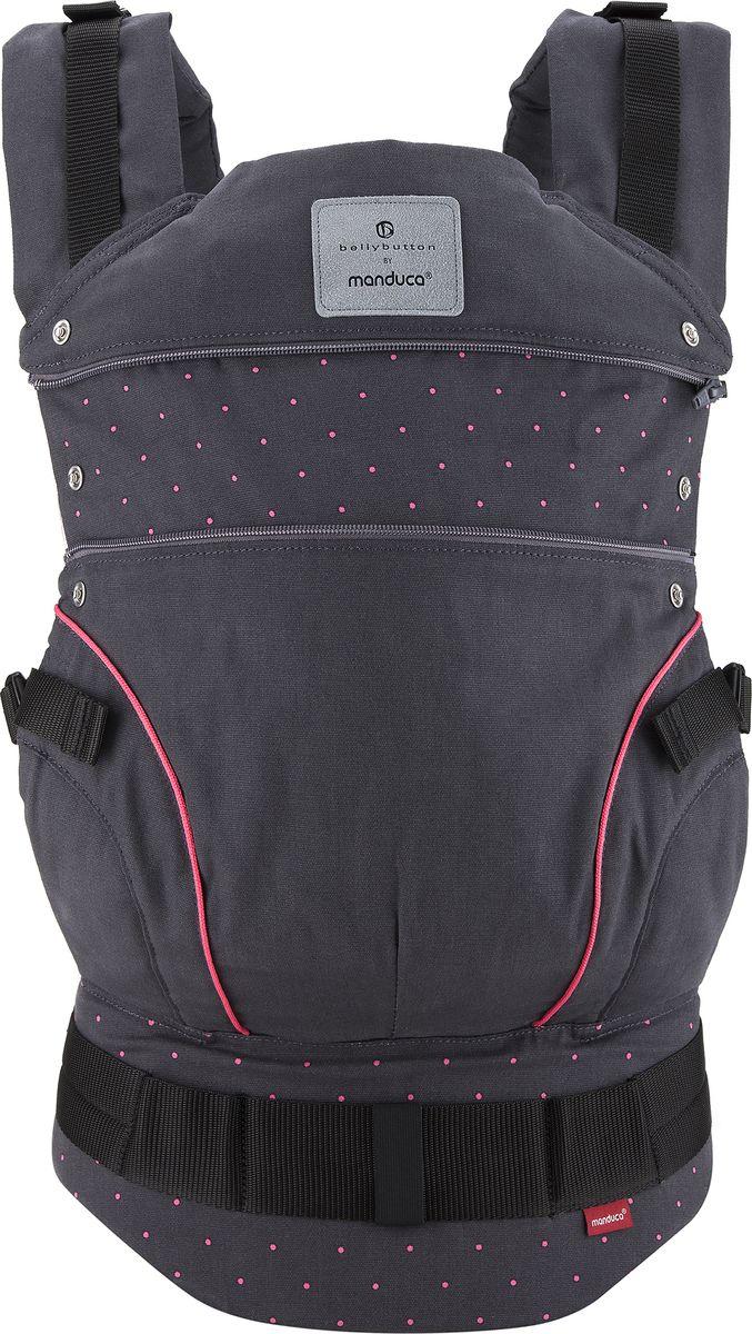 Manduca Слинг-рюкзак Bellybutton BerryDots цвет черный manduca слинг рюкзак purecotton цвет красный