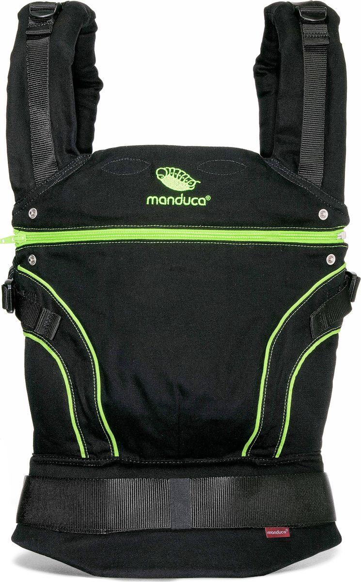 Manduca Слинг-рюкзак BlackLine ScreaminGreen с накладками manduca слинг рюкзак purecotton цвет красный
