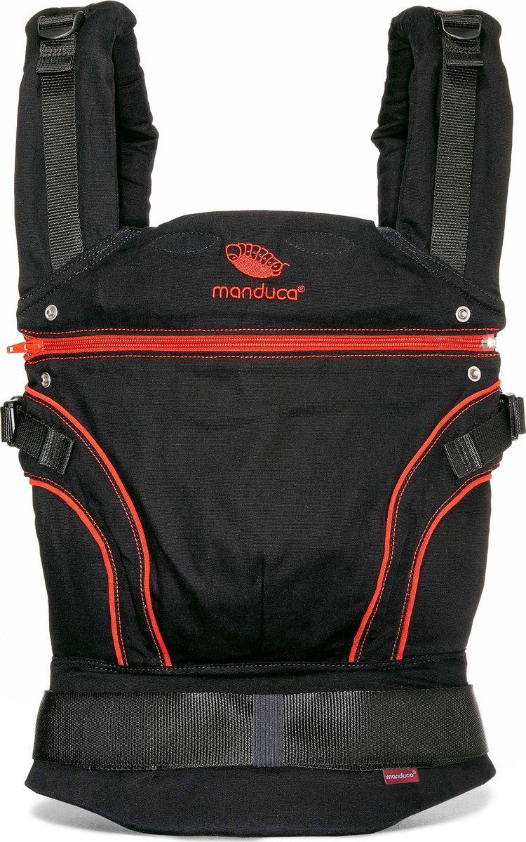 Manduca Слинг-рюкзак BlackLine RadicalRed с накладками manduca слинг рюкзак purecotton цвет красный