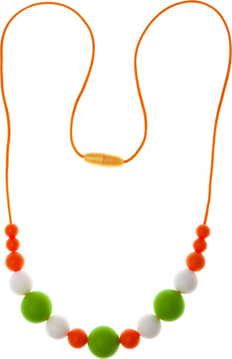 МАМидея Силиконовые бусы Артемида цвет оранжевый бусы olere бусы