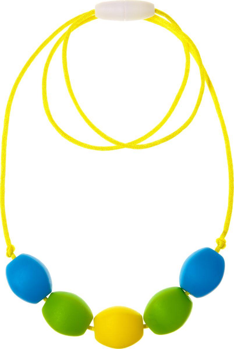 МАМидея Силиконовые бусы Дорида цвет зеленый желтый бусы авантюрин зеленый 45 см