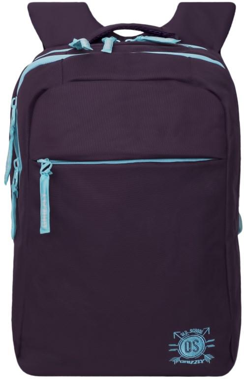 Рюкзак городской женский Grizzly, цвет: фиолетовый. RD-754-3/4RD-754-3/4Рюкзак городской Grizzl выполнен из сочетания высококачественного нейлона и полиэстера. Рюкзак имеет укрепленную петлю для подвешивания и две удобные лямки, длина которых регулируется с помощью пряжек. На лицевой стороне расположено два основных отделения, в них содержатся карман на молнии, внутренний карман-пенал для карандашей и внутренний укрепленный карман для ноутбука.Также в верхней части рюкзака находится карман быстрого доступа на молнии.Изделие имеет нагрудную стяжку-фиксатор и ортопедическую спинку.