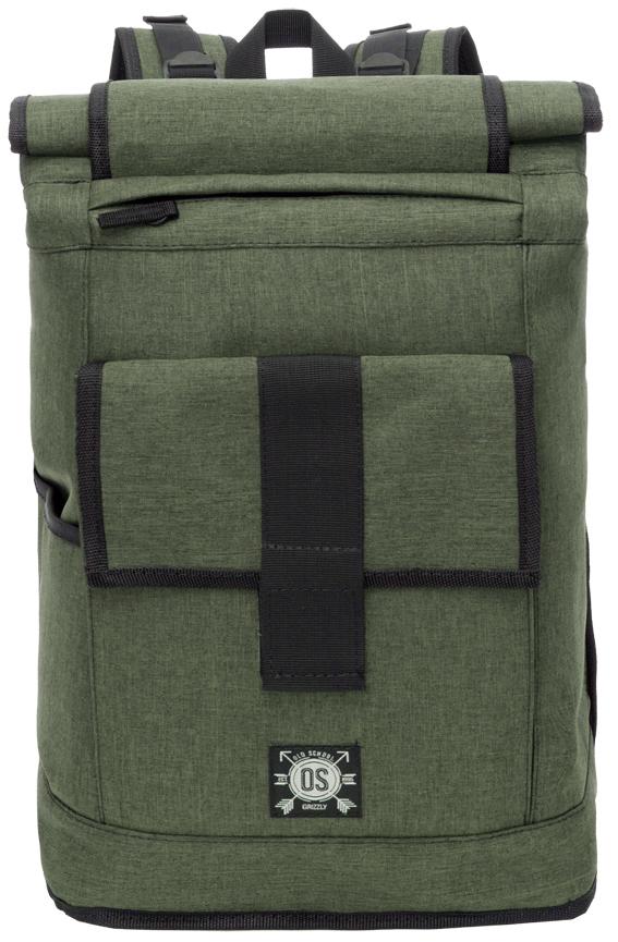 Рюкзак городской мужской Grizzly, цвет: зеленый. RU-702-2/2RU-702-2/2Рюкзак городской Grizzl выполнен из высококачественного полиэстера в сочетании с нейлоном. Рюкзак имеет ручку-петлю для подвешивания и две укрепленные лямки, длина которых регулируется с помощью пряжек. Модель имеет одно основное отделение, которое дополнено вставкой-трансформером для увеличения объема рюкзака. Передняя стенка рюкзака имеет верхний карман быстрого доступа, а также объемный карман с застежкой-хлястиком. С одной стороны имеется боковой кармашек без застежки. Внутри основного отделения рюкзак дополнен укрепленным карманом для ноутбука. Тыльная сторона рюкзака имеет укрепленную спинку и нагрудную стяжку.