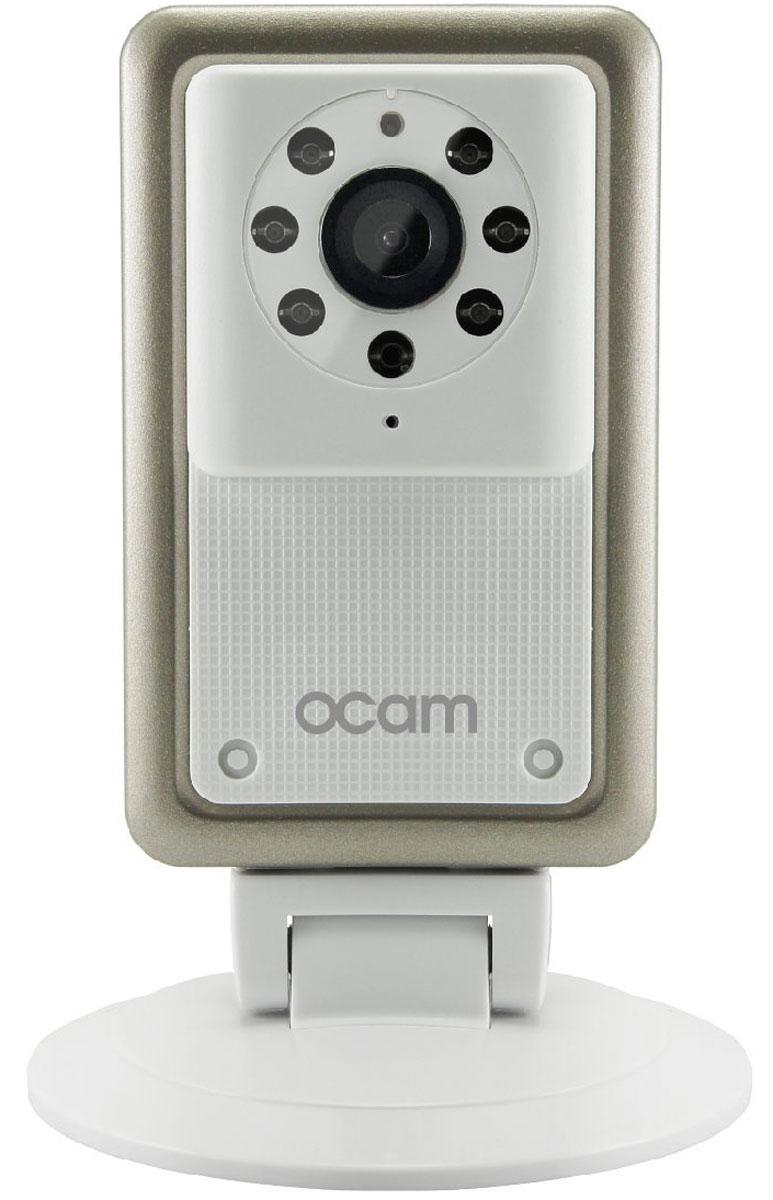 OCam-M2, White IP-камераOCAM-M2+WhiteС камерой OCam-M2 у вас появится возможность присмотреть за своим домом, маленьким ребенком, пожилыми людьми и даже домашним питомцем.Строгий дизайн и удобная для дома или офиса камера наблюдения. Инженеры предусмотрели различные сценарии использования камеры, поэтому пользователю доступны несколько режимов работы. Переключаться между ними можно в один клик. Записанные видеофайлы и фотографии сохраняются на карту памяти microSD. Когда возникает движение или звук, камера активирует системы распознавания, после чего вы сразу получите уведомление в виде звонка или письма на электронную почту.Благодаря инфракрасной подсветке вы получите четкое изображение даже в условиях плохого освещения. Широкий угол обзора в 120° дает больший охват получаемого изображения, поэтому вы сможете наблюдать, к примеру, не только за ребенком, но и за окружающей его обстановкой во всей комнате.Наличие встроенного микрофона и динамика позволяет вам общаться с помощью камеры OCam-M2 даже дистанционно.Установите фирменное приложение OCam App на ваше мобильное устройство, настройте его и менее чем через три минуты вы сможете вести наблюдение в режиме реального времени в высоком качестве изображения 720p.Как выбрать камеру видеонаблюдения для дома. Статья OZON Гид