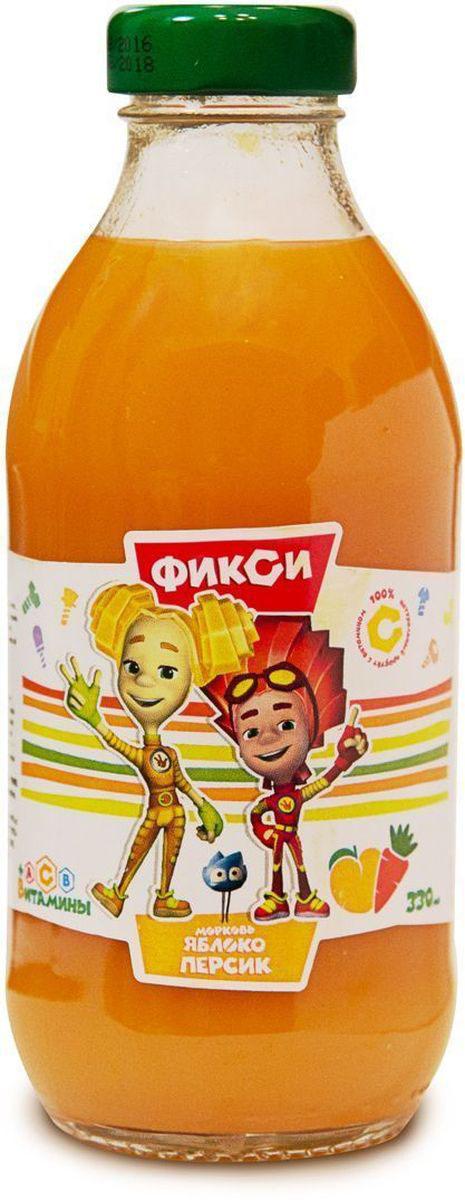 Фиксики Морковь Яблоко Персик нектар детский, 0,33 л добрый сок яблоко персик 0 2 л