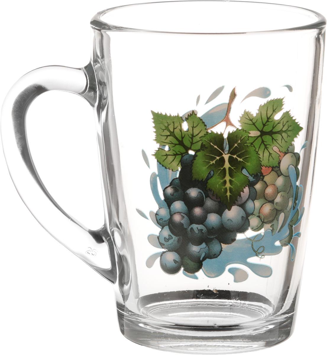 Кружка OSZ Капучино. Виноград, 300 мл07C1334-VNKКружка OSZ Капучино. Виноград изготовлена из стекла и декорирована принтом. Диаметр (по верхнему краю): 8 см. Высота: 11 см.