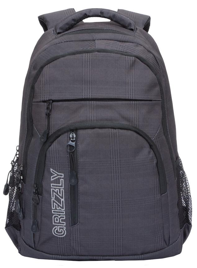 Рюкзак городской мужской Grizzly, цвет: темно-серый, черный. RU-707-2/2 рюкзак городской мужской grizzly цвет красный ru 715 2 3