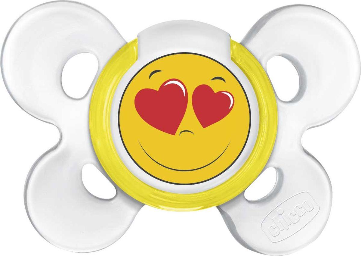Chicco Пустышка Physio Comfort Smile 0-6 месяцев