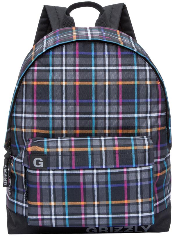 Рюкзак городской Grizzly, цвет: черный, мультиколор. RU-709-3/1 вибромассажер анальный на пульте управления розовый