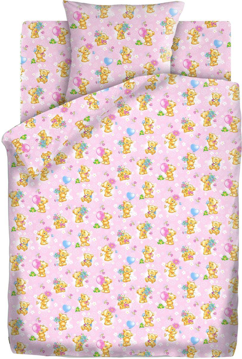 все цены на Кошки-мышки Комплект детского постельного белья Мишки-игрушки цвет розовый 3 предмета