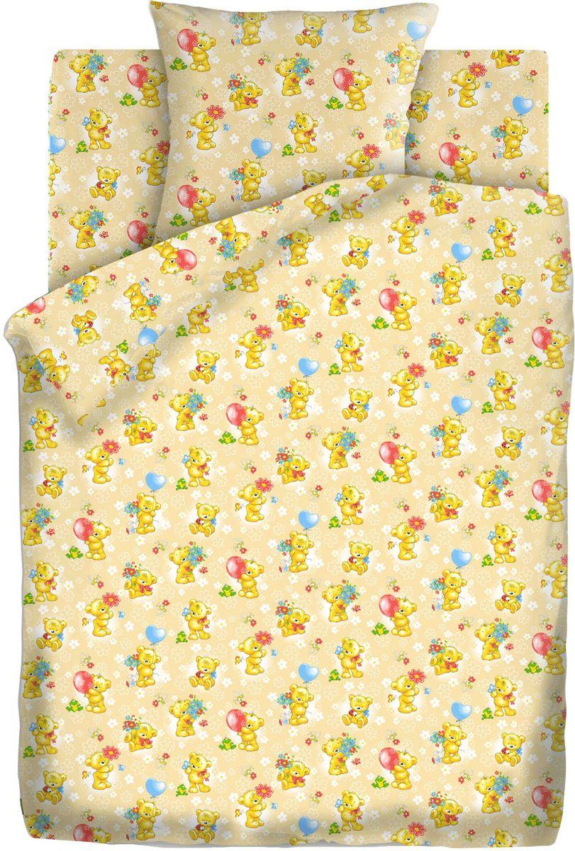 Кошки-мышки Комплект детского постельного белья Мишки-игрушки цвет желтый