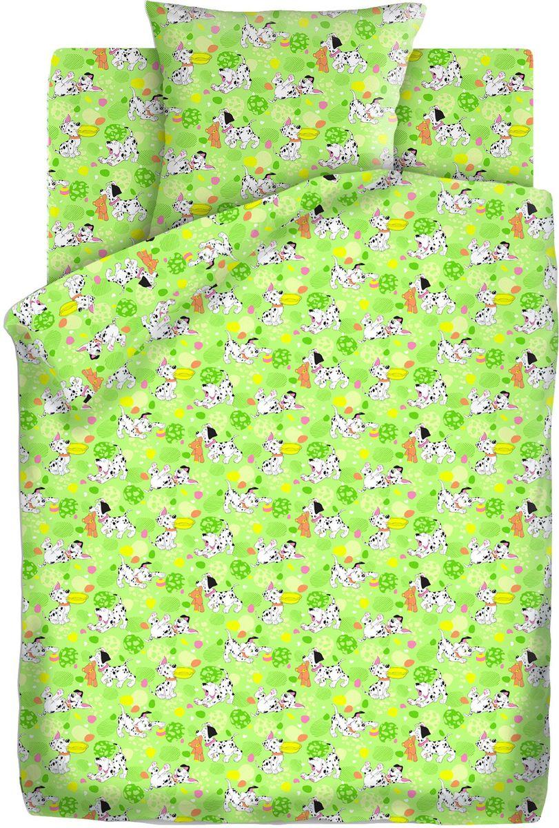 Кошки-мышки Комплект детского постельного белья Далматинцы цвет зеленый 3 предмета -  Постельное белье