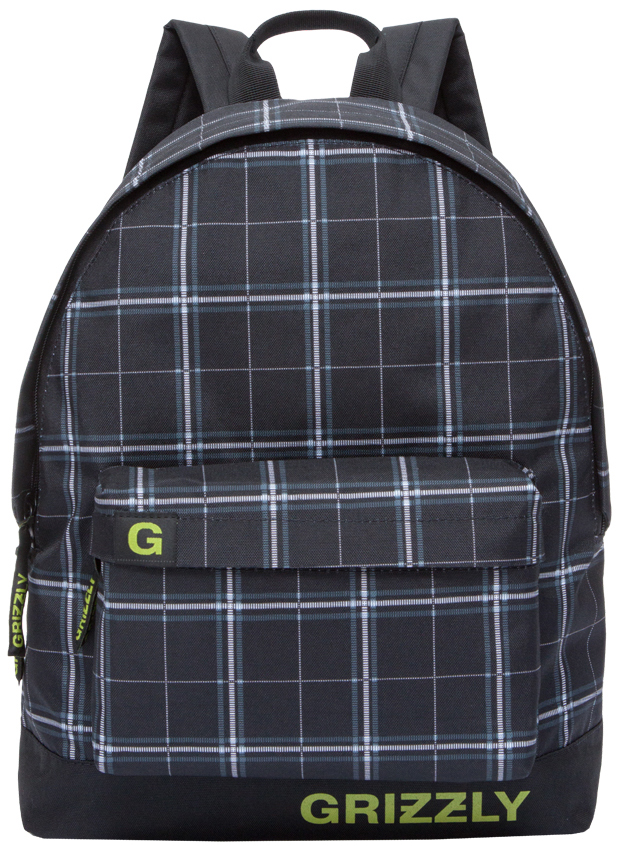 Рюкзак городской Grizzly, цвет: темно-серый, черный. RU-709-3/4RU-709-3/4Рюкзак городской Grizzl выполнен из высококачественного нейлона в сочетании с полиэстероми оформлен оригинальным принтом. Рюкзак имеет ручку-петлю для подвешивания и две удобные лямки, длина которых регулируется с помощью пряжек. Модель имеет одно основное отделение на молнии, с внутренним подвесным карманом. Передняя сторона оформлена объемным карманом на застежке-молнии. Тыльная сторона рюкзака имеет укрепленную спинку.