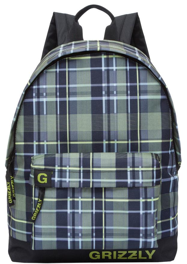 Рюкзак городской мужской Grizzly, цвет: черный, оливковый. RU-709-3/5 рюкзак городской мужской grizzly цвет красный ru 715 2 3