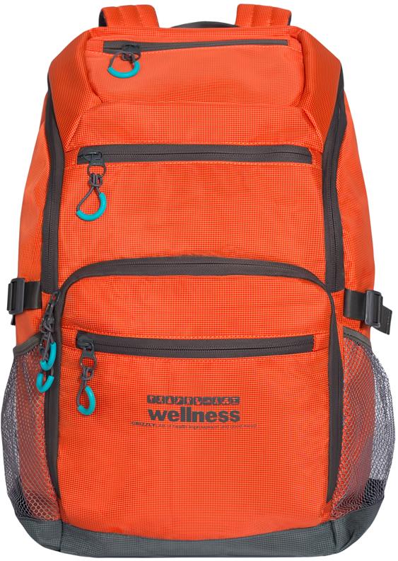 Рюкзак спортивный мужской Grizzly, цвет: оранжевый. RU-710-1/4RU-710-1/4Спортивный рюкзак Grizzl выполнен из высококачественного нейлона. Рюкзак имеет ручку-петлю для подвешивания и две удобные лямки, длина которых регулируется с помощью пряжек. Модель имеет одно основное отделение, которое оснащено внутренним карманом для гаджета и карманом на молнии. Верхней части рюкзака находятся карман быстрого доступа, а также передняя стенка дополнена двумя втачными карманами на застежке-молнии и карманом для обуви. На боковых стенках расположены открытые кармашки без застежки. Тыльная сторона спортивного рюкзака выполнена с анатомической спинкой и боковыми стяжками-фиксаторами.