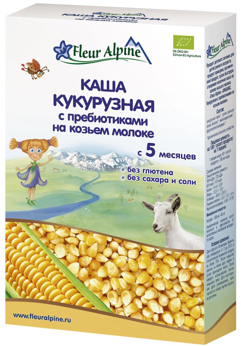 Fleur Alpine Organic каша на козьем молоке кукурузная с пребиотиками, с 5 месяцев, 200 г каши фрутоняня молочная рисовая каша с пребиотиками жидкая с 6 мес 200 мл