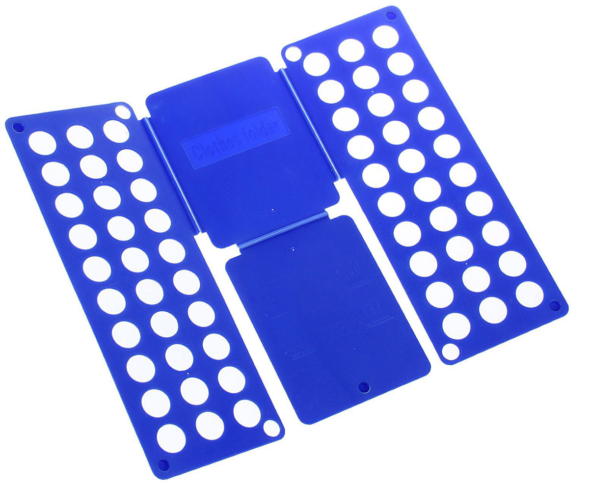 Приспособление для складывания детской одежды Sima-land, цвет: синий1411846Приспособление для складывания одежды Sima-land поможет навести порядок в вашем шкафу. С ним вы сможете быстро и аккуратно сложить вещи. Приспособление подходит для складывания полотенец, рубашек поло, вещей с короткими и длинными рукавами, футболок, штанов. Не подойдет для больших размеров одежды. Приспособление выполнено из качественного прочного пластика. Изделие компактно складывается и не занимает много места при хранении. Размер в сложенном виде: 40 х 16 см. Размер в разложенном виде: 48 х 40 см.