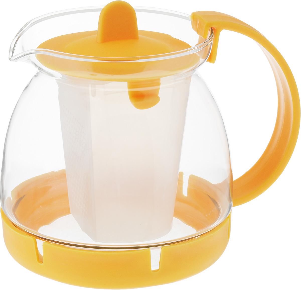 Чайник заварочный Mayer & Boch, с фильтром, 800 мл26175-2Чайник заварочный Mayer & Boch изготовлен из термостойкого боросиликатного стекла, фильтр выполнены из полипропилена. Изделия изстекла не впитывают запахи, благодаря чему вы всегда получите натуральный, насыщенный вкус и аромат напитков. Заварочный чайник изстекла удобно использовать для повседневного заваривания чая практически любого сорта. Но цветочные, фруктовые, красные и желтые сортачая лучше других раскрывают свой вкус и аромат при заваривании именно в стеклянных чайниках, а также сохраняют все полезные ферменты ивитамины, содержащиеся в чайных листах. Фильтр гарантирует прозрачность и чистоту напитка от чайных листьев, при этом сохранив букет инасыщенность чая. Прозрачные стенки чайника дают возможность насладиться насыщенным цветом заваренного чая. Изящный заварочныйчайник Mayer & Boch будет прекрасно смотреться в любом интерьере. Подходит для мытья в посудомоечной машине.Объем: 800 мл.