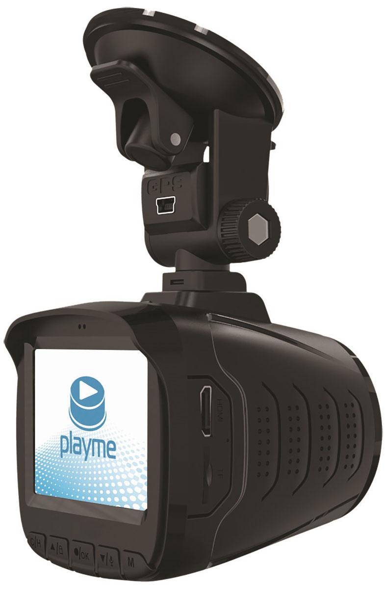 PlayMe P350 Tetra видеорегистратор с радар-детекторомPlayMe-P350Автомобильный видеорегистратор PlayMe P350 Tetra сочетает в себе самое нужно и необходимое для комфортной дороги: видеорегистратор, радар-детектор и GPS-информатор. Модель имеет встроенный емкий литиевый аккумулятор. Устройство легко установить в салоне вашего авто, благодаря надежному креплению на присоске со сквозным питанием.PlayMe P350 Tetra оснащен мощным процессором Ambarella A7LA50 и матрицей 1/3 КМОП, обеспечивающими наилучшую работу устройства. Видеорегистратор ведет съемку в качеству Super HD 2560x1080, 30 кадров в секунду в формате MP4 (H.264). Предусмотрена функция фотосъемки с разрешением 1920x1080, в формате jpg.Видеорегистратор устройства имеет встроенный G-сенсор датчик удара, который запишет и сохранит в специально месте видео (с защитой от перезаписи), при резких изменениях в процессе движения авто. Наилучший обзор обеспечивает шести линзовый стеклянный широкоугольный объектив с ИК-фильтром.Устройство оснащено ярким ЖК-дисплеем с диагональю 2,4 дюйма и вынесены кнопками управления, для функциональный настроек или просмотра отснятого материала. Меню устройство простое в использовании и информативное. Видеорегистратор поддерживает карты micro SDHC 10 класса с расширением до 128 ГБ.PlayMe P350 Tetra может работать как радар-детектор в диапазоне: Х, К, Ка, L, Стрелка. Радар-детектор определит точные модели радаров на пути следования, расстояние до них исвоевременно Вас проинформирует. Поддерживается голосовое сопровождение на русском языке.GPS-информатор сообщит о стационарных камерах полиции на маршруте. Данная база GPS постоянно корректируется и обновляется, новая версия всегда доступна на официальном сайте производителя.