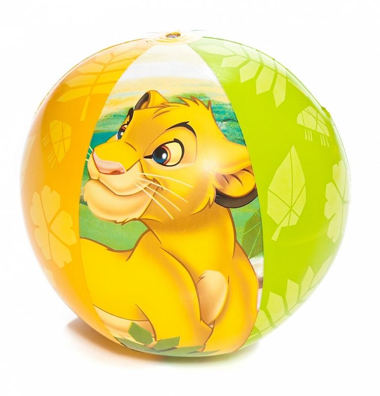 Intex Мяч детский надувной Король Лев 61 см intex в стиле disney король лев 147х33 см от 3 до 6 лет арт 58420