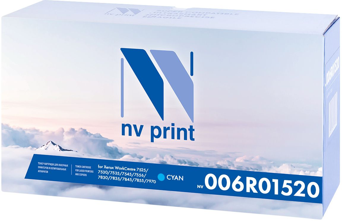 NV Print 006R01520C, Cyan картридж для Xerox WorkCentre 7525/7530/7535/7545/7556/7830/7835/7845/7855/7970 картридж для принтера nv print для hp cf403x magenta