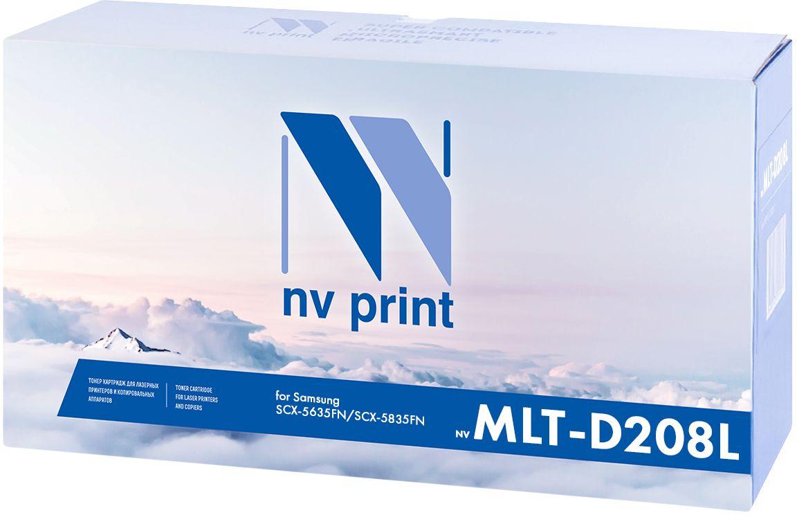 NV Print MLT-D208L, Black картридж для Samsung SCX-5635FN/SCX-5835FNNV-MLTD208LСовместимый лазерный картридж NV Print MLT-D208L для печатающих устройств Samsung - это альтернатива приобретению оригинальных расходных материалов. При этом качество печати остается высоким.Лазерные принтеры, копировальные аппараты и МФУ являются более выгодными в печати, чем струйные устройства, так как лазерных картриджей хватает на значительно большее количество отпечатков, чем обычных. Для печати в данном случае используются не чернила, а тонер.Картридж NVP, лазерный совместимый с:Samsung ML-4510ND,Samsung ML-5010ND,Samsung ML-5015ND.Картридж производителя NV Print, имеет ресурс в 10 000 копий.