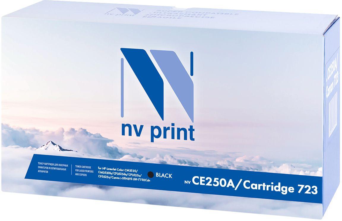 NV Print CE250A/723, Black тонер-картридж для НР LaserJet Color CM3530/CM3530fs/CP3525dn/CP3525n/CP3525x/Canon i-SENSYS LBP-7750Cdn картридж nv print cf283x crg737 для hp laserjet pro 201dw n mfp m225dn dw mf212w canon i sensys mf418x
