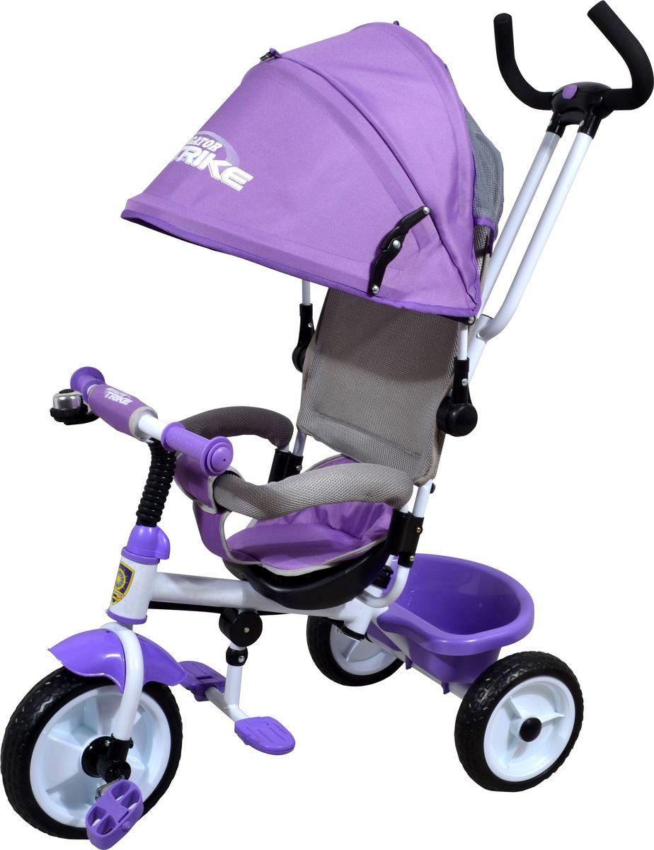 Navigator Велосипед трехколесный Lexus цвет фиолетовый Т58447Т58447Трехколесный велосипед Navigator Lexus предназначен для того, чтобы ребенок увидел мир с другого ракурса и постепенно переходил с коляски на собственный транспорт. Популярная модель детского трехколесного велосипеда имеет яркий дизайн. Велосипед снабжен ручкой управления для родителей.Особенности:Диаметр переднего/заднего колеса: 10/8.Широкие пластиковые колеса с пластиковыми дисками.Сиденье с нерегулируемой спинкой.Конструкция руля: прямая.Подставки для ног.Переднее крыло.Страховочный разъемный обод.Колясочный козырек от дождя.Тканевая вставка на сиденье.Задняя корзина (фиксированная).Клаксон.