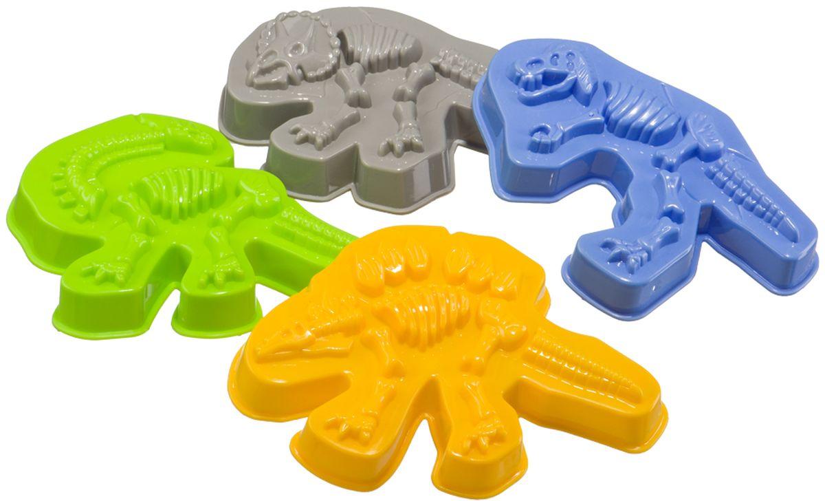 Happy Baby Набор формочек для песка Dinosaurs игровой набор happy baby складные формочки aqua turtles для ванной
