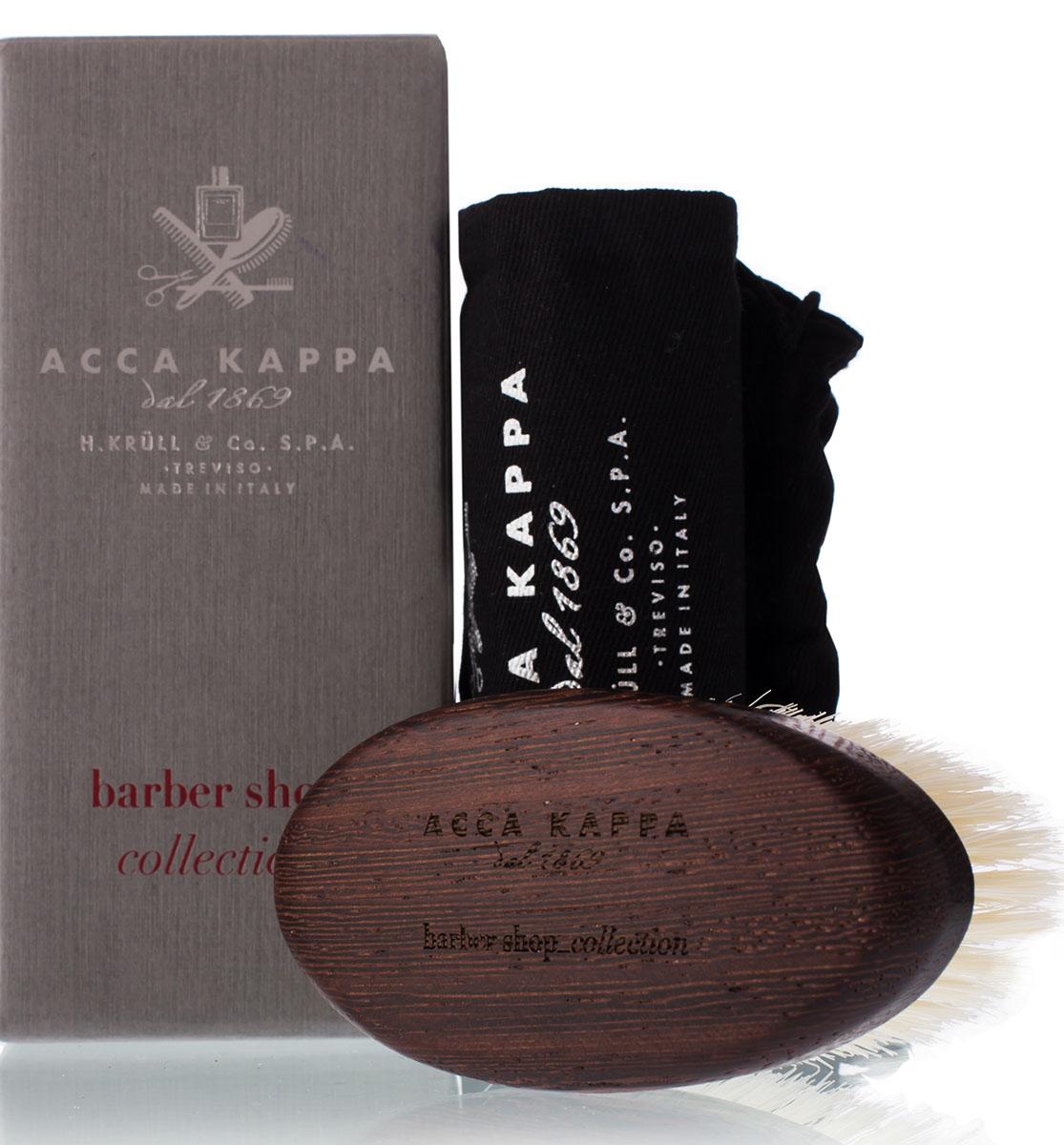 Acca KappaЩетка для бороды с основой из дерева (белая) Acca Kappa