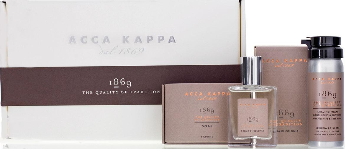 Acca Kappa Подарочный набор  1869  (одеколон 30 мл, пена для бритья 50 мл, мыло 100 гр) - Наборы