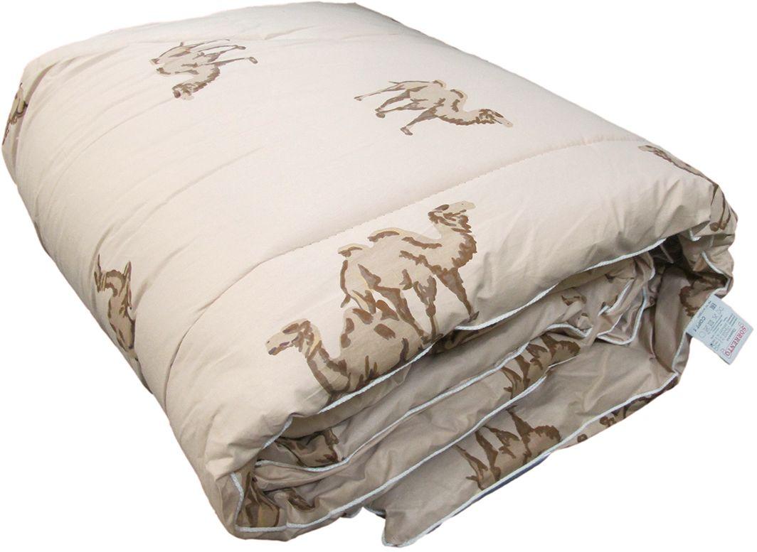 Одеяло Сорренто Верблюжья шерсть, теплое, цвет: бежевый, 172 х 205 см27588Одеяло Сорренто Верблюжья шерсть - из верблюжьей шерсти с давних времен завоевали любовь ценителей комфорта. Длинная, густая шерсть верблюда надежно удерживает тепло, хорошо впитывает и испаряет влагу, нейтрализует воздействия статического напряжения. Одеяла с наполнителем из верблюжьей шерсти защищают не только от переохлаждения в холодное время года, но и от перегревания в жару. Кроме того, такие изделия в два раза легче и намного прочнее изделий с наполнителем из овечьей шерсти.