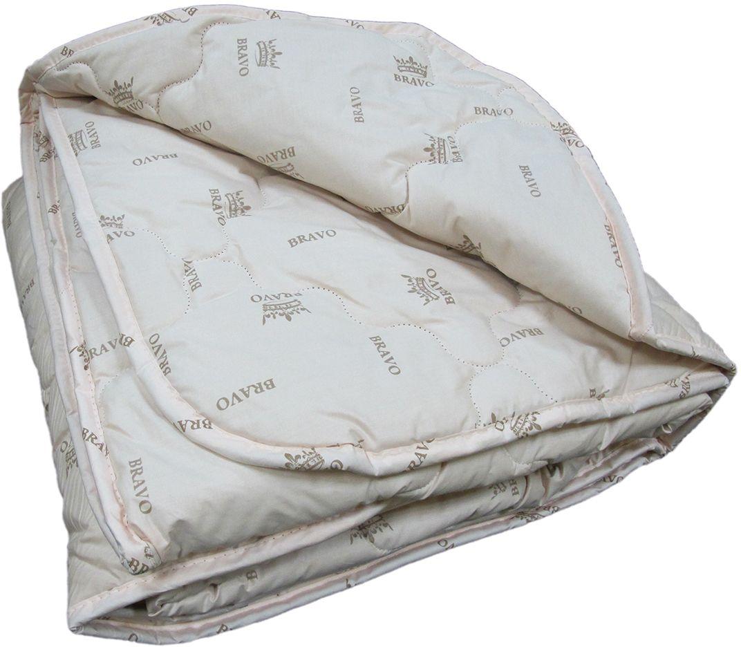 """Одеяло теплое Браво """"Верблюжий пух"""", наполнитель: верблюжий пух, полиэстер, цвет: светло-бежевый, 172 х 205 см"""
