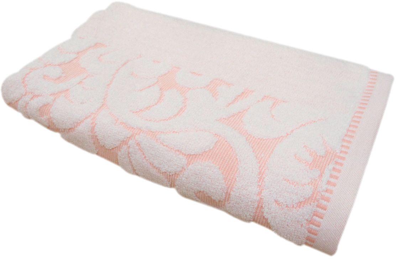 Полотенце махровое Bravo Версаль, цвет: персиковый, белый, 50 х 90 см55741Полотенце Версаль выполнено из натуральной махровой ткани (100% хлопок). Изделие отлично впитывает влагу, быстро сохнет, сохраняет яркость цвета и не теряет форму даже после многократных стирок.Полотенце очень практично и неприхотливо в уходе. Оно создаст прекрасное настроение и украсит интерьер в ванной комнате.