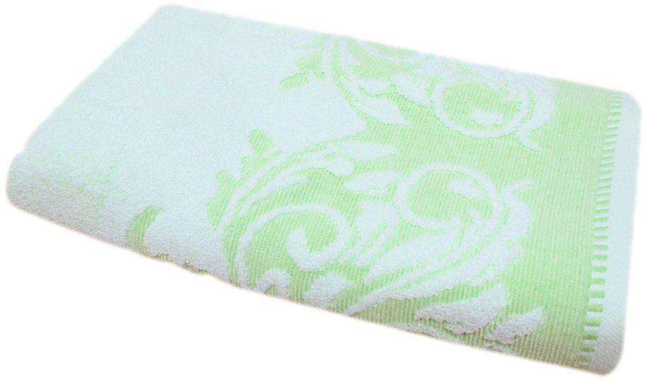 Полотенце махровое Bravo Венеция, цвет: зеленый, белый, 50 х 90 см66499Полотенце Венеция выполнено из натуральной махровой ткани (100% хлопок). Изделие отлично впитывает влагу, быстро сохнет, сохраняет яркость цвета и не теряет форму даже после многократных стирок.Полотенце очень практично и неприхотливо в уходе. Оно создаст прекрасное настроение и украсит интерьер в ванной комнате.