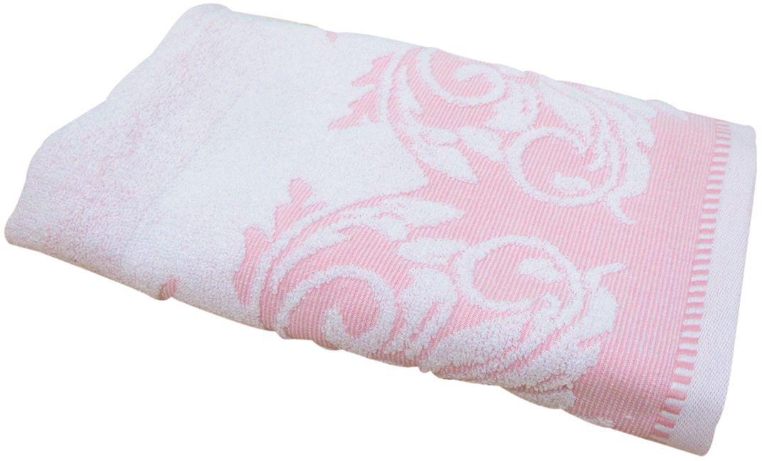 Полотенце махровое Bravo Венеция, цвет: розовый, белый, 50 х 90 см66505Полотенце Венеция выполнено из натуральной махровой ткани (100% хлопок). Изделие отлично впитывает влагу, быстро сохнет, сохраняет яркость цвета и не теряет форму даже после многократных стирок. Полотенце очень практично и неприхотливо в уходе. Оно создаст прекрасное настроение и украсит интерьер в ванной комнате.