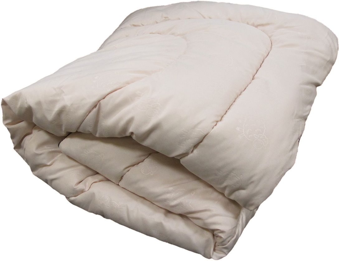 Одеяло ЭкоСтиль Wool, всесезонное, цвет: светло-бежевый, 140 х 205 см68948