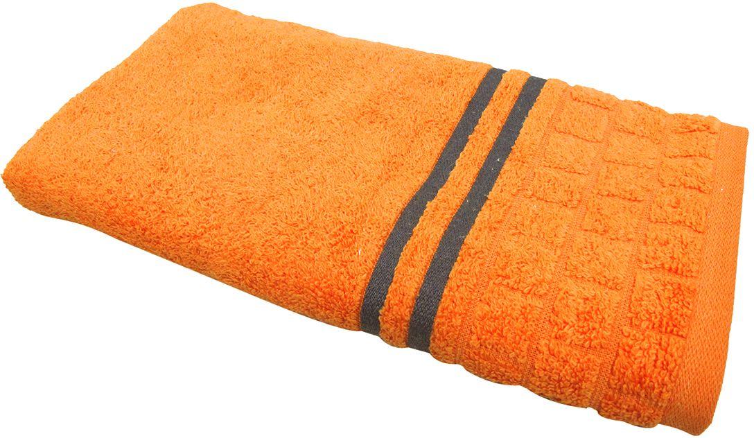 Полотенце махровое Bravo Лана, цвет: оранжевый, 50 х 90 см70459Полотенце Лана выполнено из натуральной махровой ткани (100% хлопок). Изделие отлично впитывает влагу, быстро сохнет, сохраняет яркость цвета и не теряет форму даже после многократных стирок.Полотенце очень практично и неприхотливо в уходе. Оно создаст прекрасное настроение и украсит интерьер в ванной комнате.