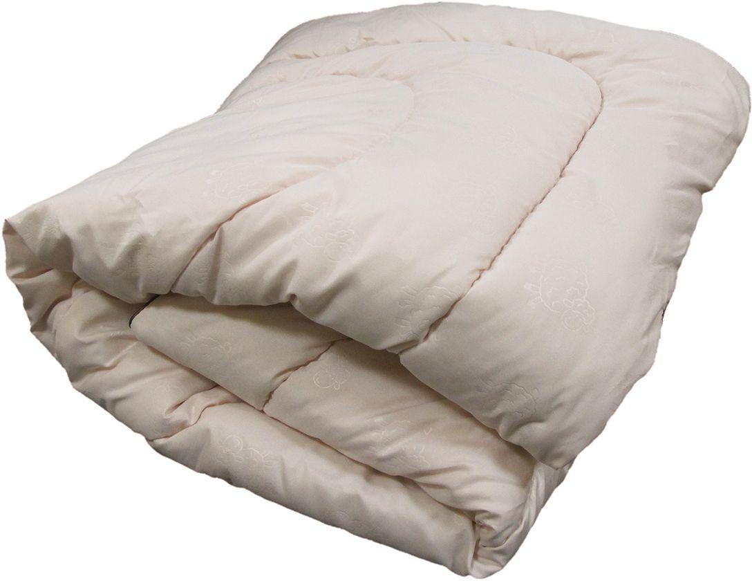 """Одеяла ЭкоСтиль Wool содержат шерсть мериноса (тонкорунная овца, с  высококачественной шерстью).  Отличается особым теплом, легкое и воздушное.  Подойдет всем, кто не любит тяжелые одеяла.   Плотность 250 г/м. Благодаря малому диаметру эта шерсть не колется, поэтому  спать под одеялом из  такой шерсти будет очень комфортно.   Ткань чехла- сатин с термо-печатью """"овечки"""" бежевого цвета.   Кант - атласный."""