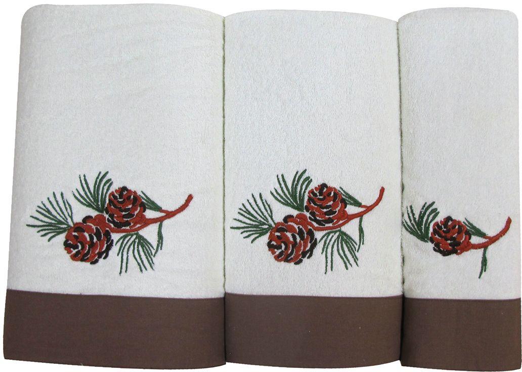 Набор махровых полотенец Bravo Ботаника, цвет: коричневый, белый, 30 х 50 см, 45 х 90 см, 65 х 130, 3 шт78883Набор Bravo состоит из трех махровых полотенец, выполненных из натурального 100% хлопка. Изделия отлично впитывают влагу, быстро сохнут, сохраняют яркость цвета и не теряют формы даже после многократных стирок.Полотенца Bravo очень практичны и неприхотливы в уходе.