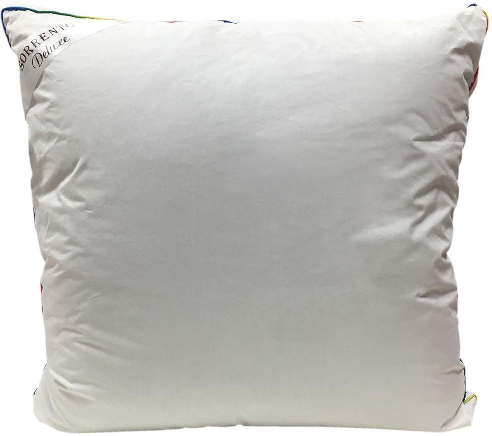 Подушка Сорренто Делюкс Гипноз, цвет: белый, 70 х 70 см80460Подушка Сорренто Делюкс Гипноз - мягкая и легкая подушка обеспечит вам здоровый и комфортный сон. Она отлично впитывают влагу, также без труда ее испаряет, а это значит, что в ней никогда не заведутся микробы и вредные бактерии. Подушка обеспечивает надежную поддержку шеи и головы. Кроме того, она постоянно поддерживает нужную температуру и дарит вам незабываемое чувство комфорта и умиротворения.