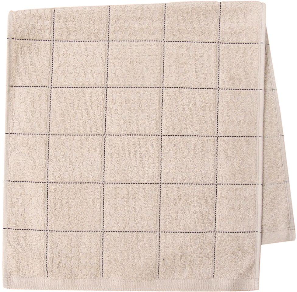 Полотенце махровое Bravo Квадро, цвет: бежевый, 33 х 70 см80817Полотенце Квадро выполнено из натуральной махровой ткани (100% хлопок). Изделие отлично впитывает влагу, быстро сохнет, сохраняет яркость цвета и не теряет форму даже после многократных стирок. Полотенце очень практично и неприхотливо в уходе. Оно создаст прекрасное настроение и украсит интерьер в ванной комнате.