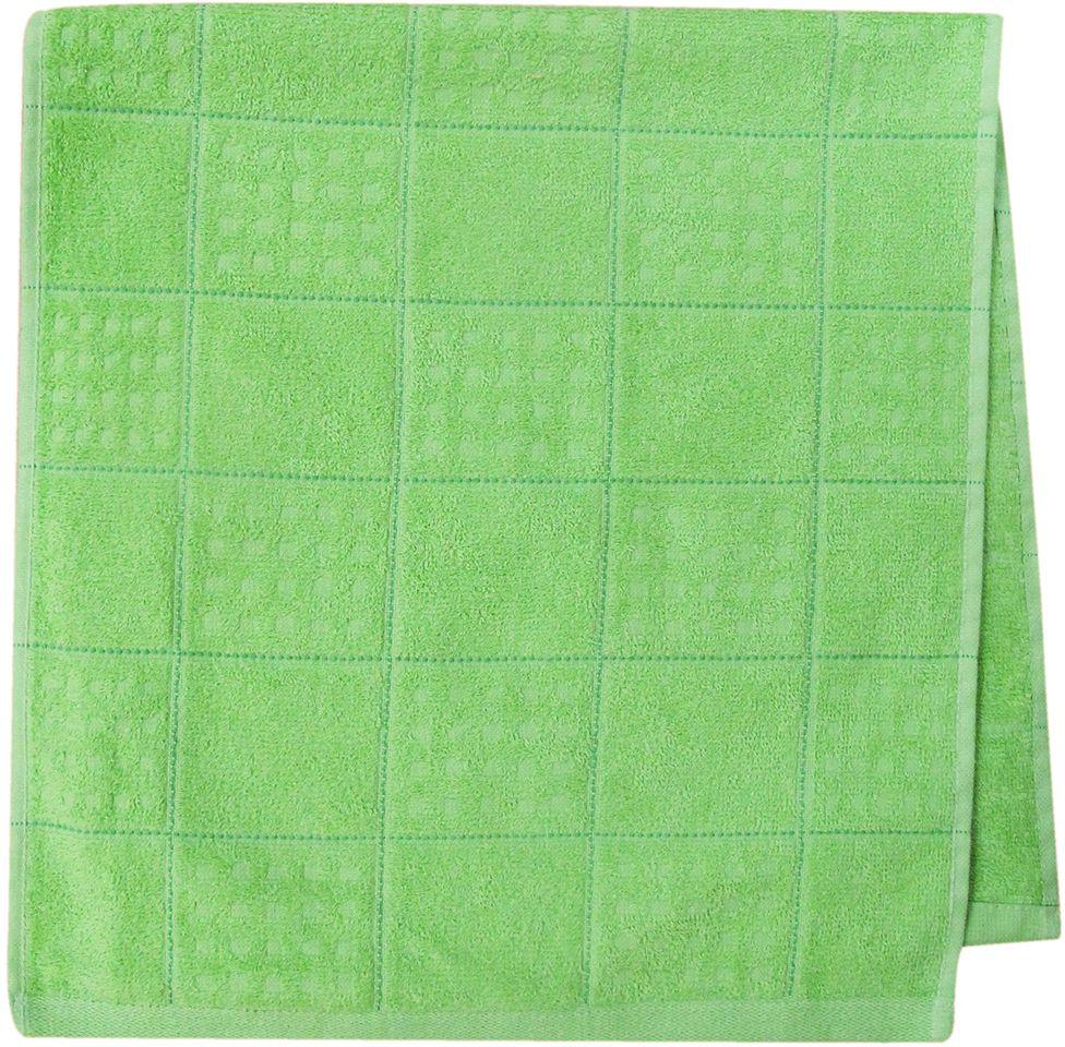 Полотенце махровое НВ Квадро, цвет: зеленый, 33 х 70 см. м1081_0380826