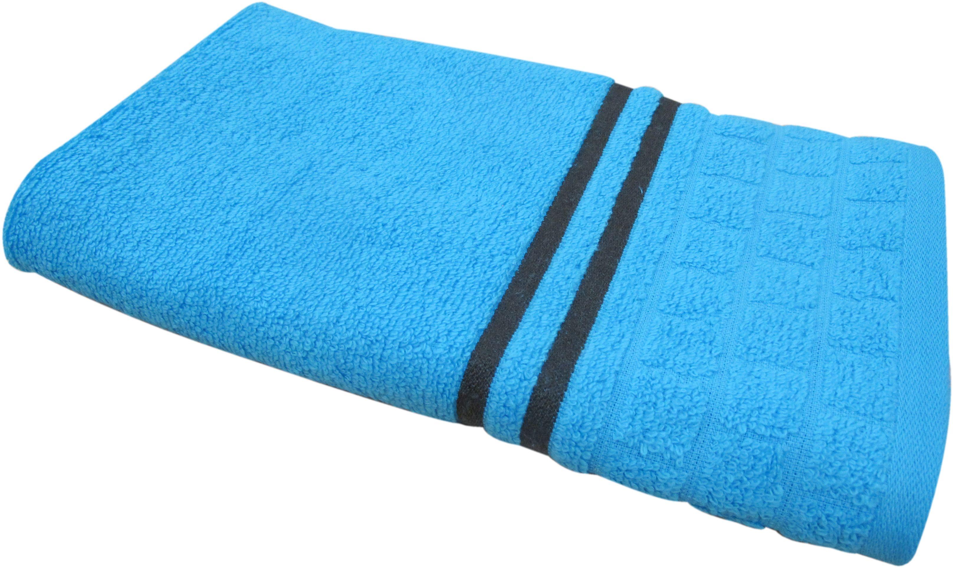 Полотенце махровое Bravo Лана, цвет: синий, 50 х 90 см84550Полотенце Лана выполнено из натуральной махровой ткани (100% хлопок). Изделие отлично впитывает влагу, быстро сохнет, сохраняет яркость цвета и не теряет форму даже после многократных стирок. Полотенце очень практично и неприхотливо в уходе. Оно создаст прекрасное настроение и украсит интерьер в ванной комнате.